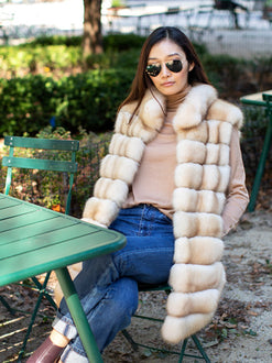 LUXURIOUS SABLE FUR VEST, FUR MADE IN NYC, POLOGEORGIS