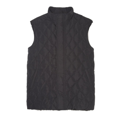 Mens Fur Vest in Black