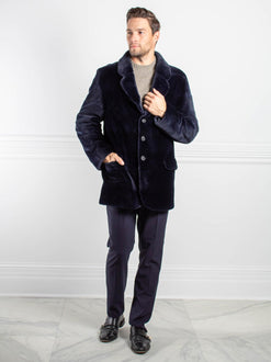 Mens Sheared Mink Fur Jacket