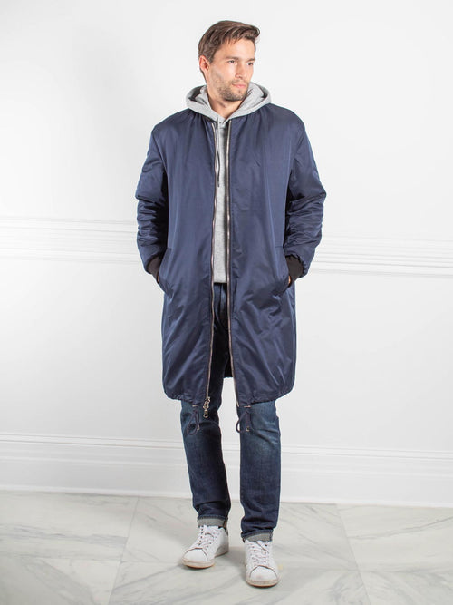 Mens Sheared Rabbit Fur Bomber Coat