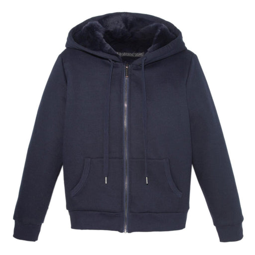Mens Rabbit Lined Hooded Zip Sweatshirt