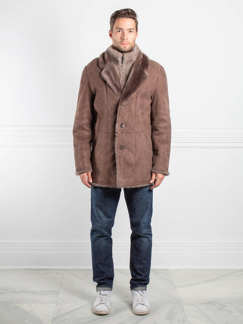 Mens Shearling Lamb and Mink Jacket