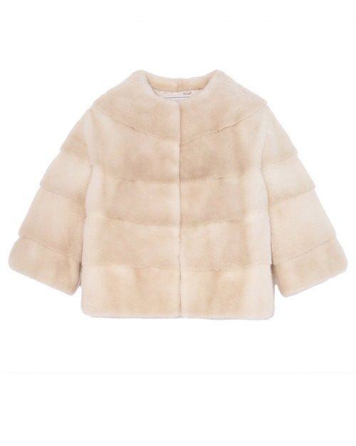 The Ieva Mink Fur Cropped Jacket
