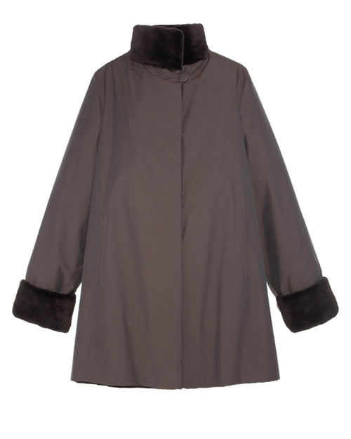 Reversible Sheared Mink Raincoat