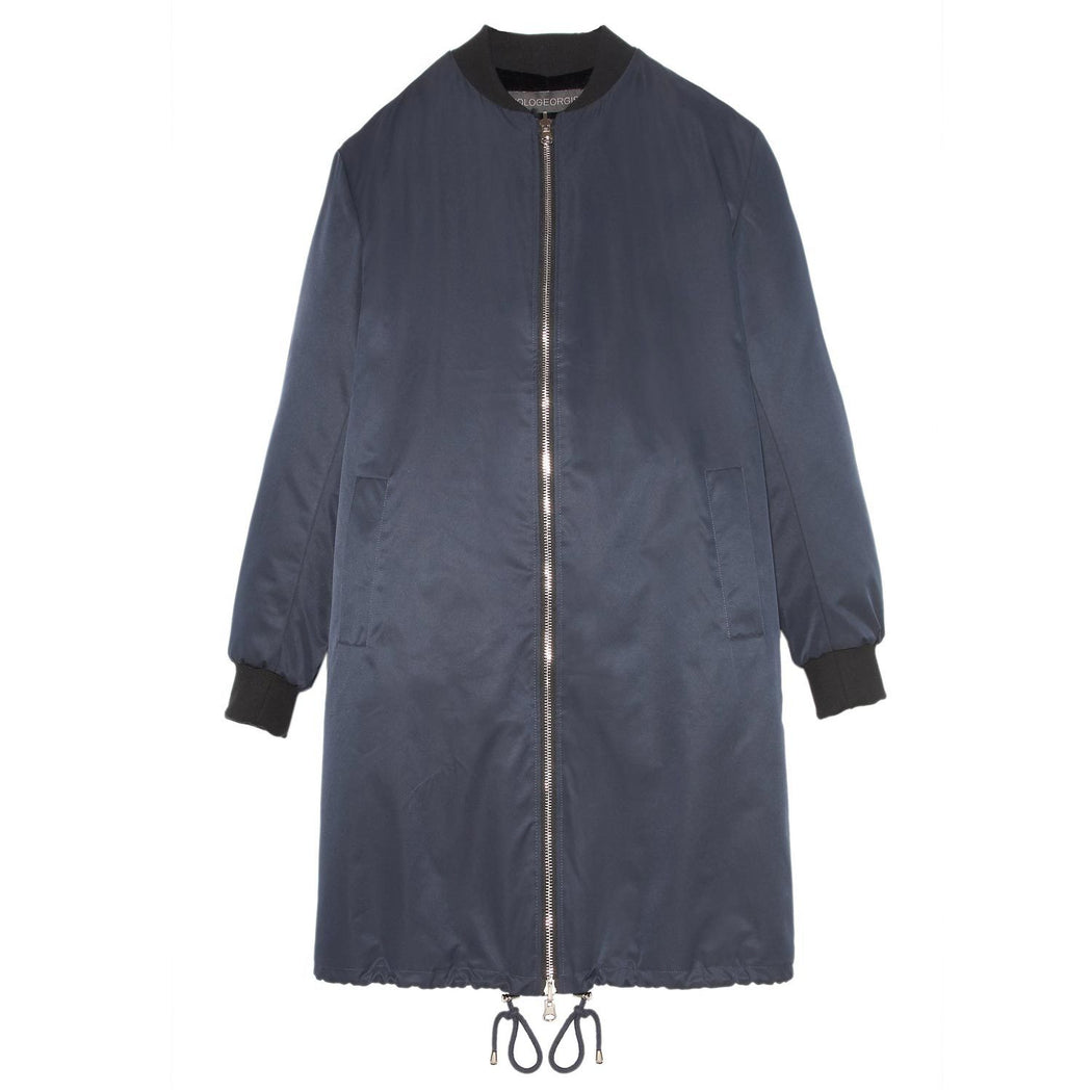 Reversible Sheared Rabbit Bomber Coat