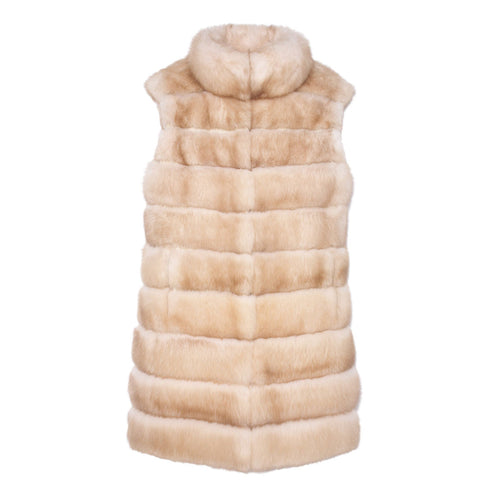 Long Sable Fur Vest