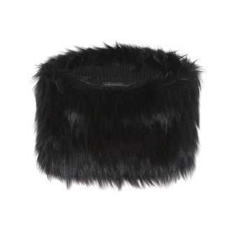 Fur Scarf in Black - Pologeorgis