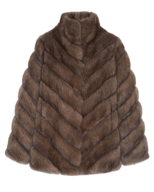 Sable Fur and Suede Coat - Pologeorgis