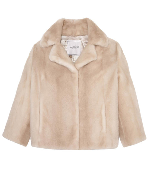 Mink Fur Jacket in Palomino Color
