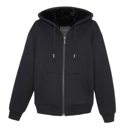 Mens Rabbit Lined Hooded Sweatshirt