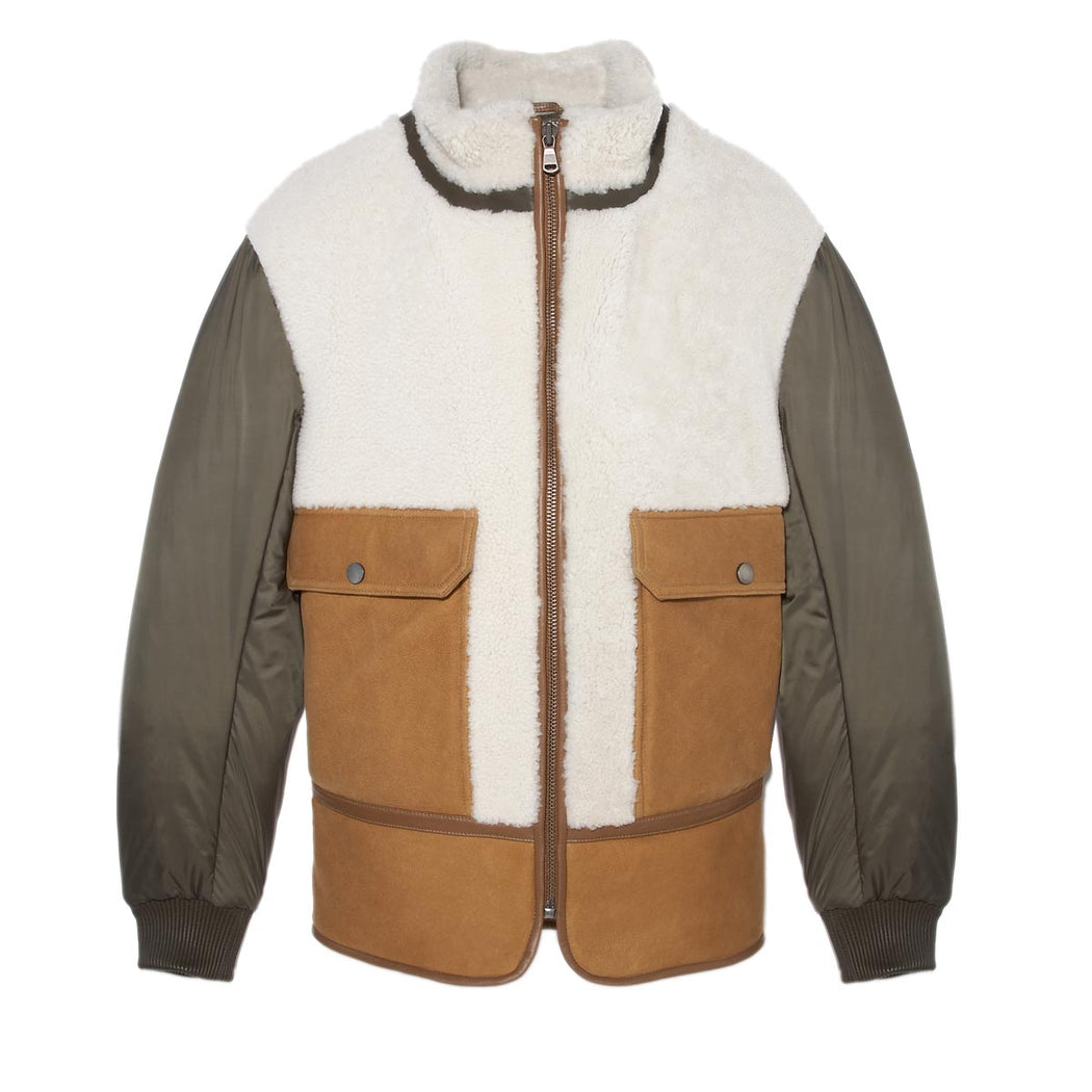 mens shearling jacket - Pologeorgis