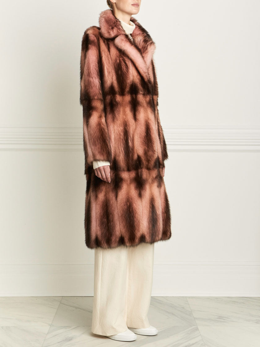 fitch fur coat in blush color
