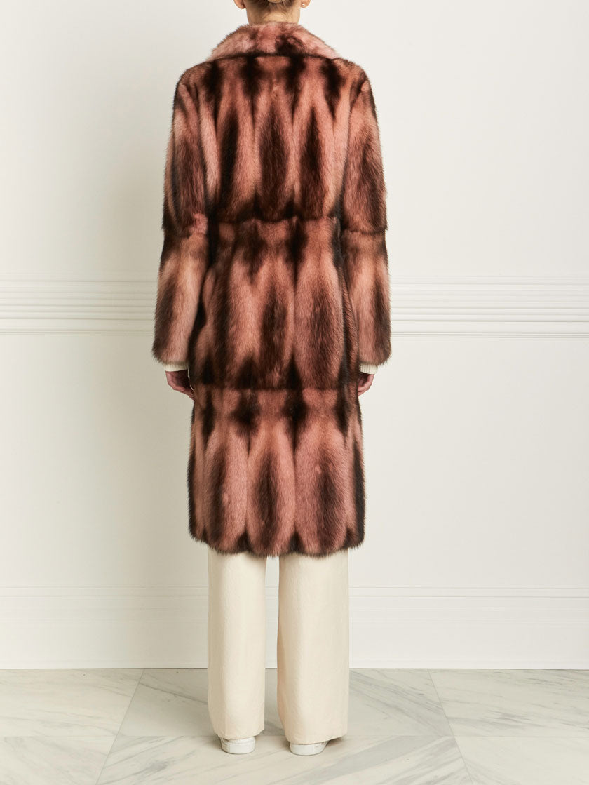 fitch fur coat for women