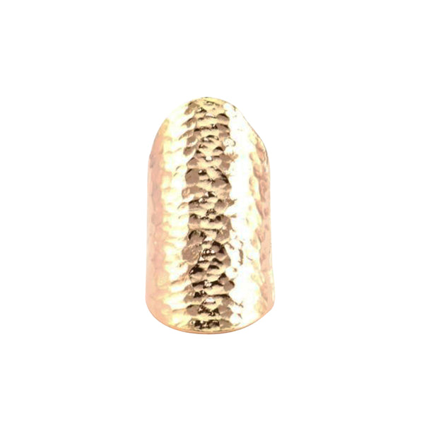 Rose Gold Plated Hammered Gladiator Ring