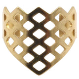 Raw Brass Armor Ring