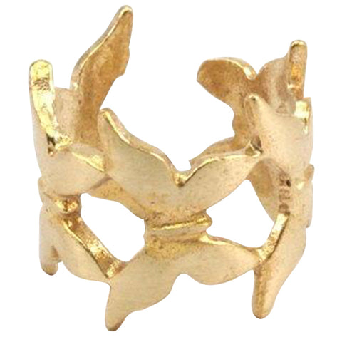 Raw Brass Butterfly Ring for sale
