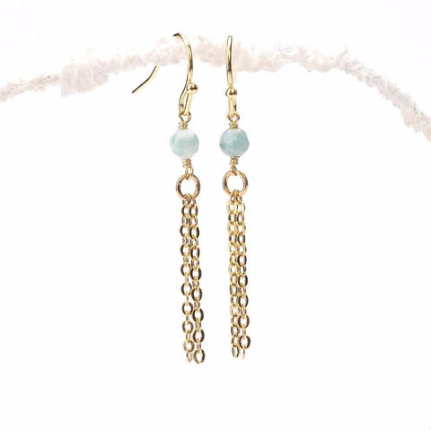 Amazonite Tassel Earrings WHOLESALE