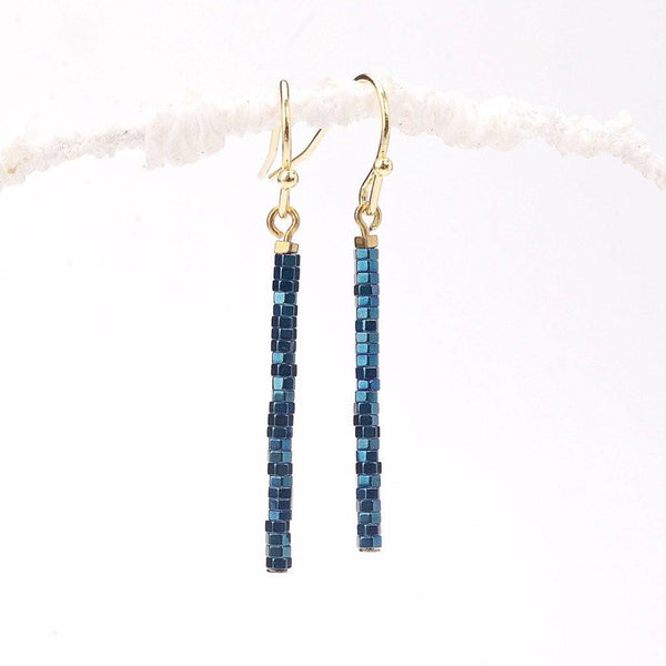 blue hematite, hematite, navy blue, twinkl, natural stone, earrings maker, black minerals, black hematite, craft earrings, royal blue, bead store, vintage jewelry, girl craft, hematite cube, gold beads