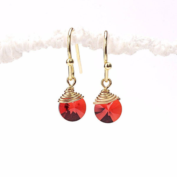 Red Sparkle Earrings WHOLESALE