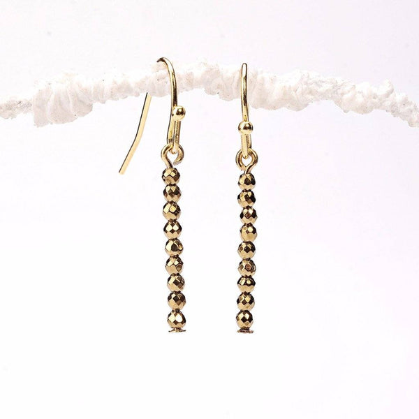 gold hematite, rondell, rainbow shades of gold, hematite mineral, gold filled, fancy gold earrings, natural hematite, earring making, earrings for women, diy jewelry, crafts, beads, bead shop