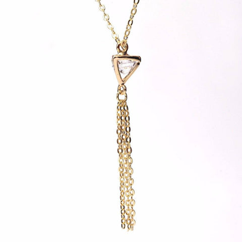 Inverted Pyramid Tassel Necklace WHOLESALE