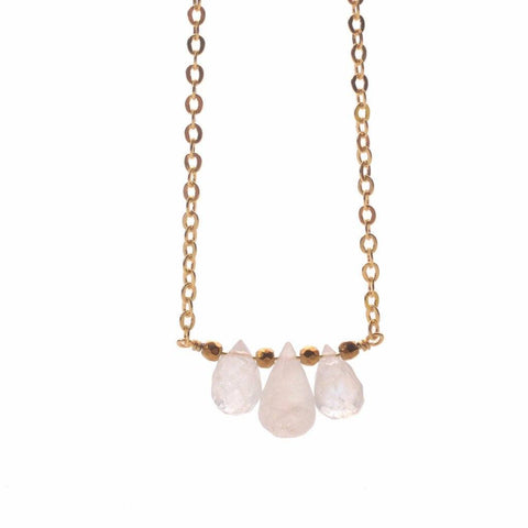 Triple Moonstone Necklace