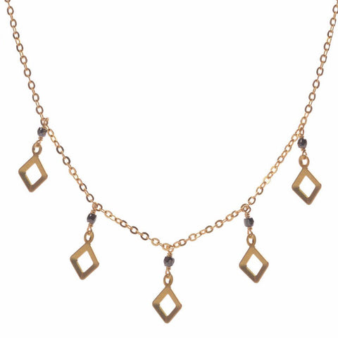 cutout diamond confetti, rhombus necklace, rhombus shape, necklace design, geometric necklace, brass diamond, modern geometry, geometric design, gold accessories, american jewelry, necklace designs, girl craft, diy necklace, bead store