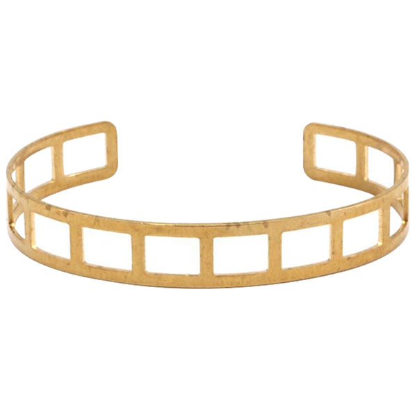 Raw Brass Cage Bangle