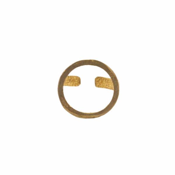 Raw brass circle ring