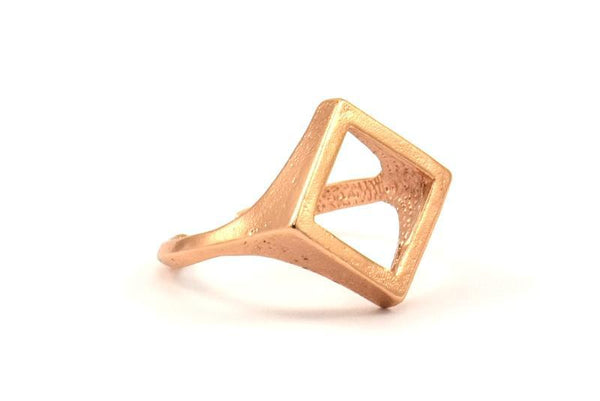 Rose Gold Plated Cutout Diamond Ring