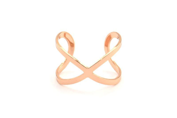 Rose Gold Plated Infinity Ring