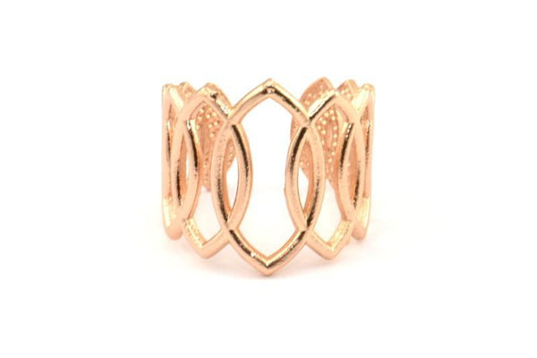 Rose Gold Plated Marquise Ring