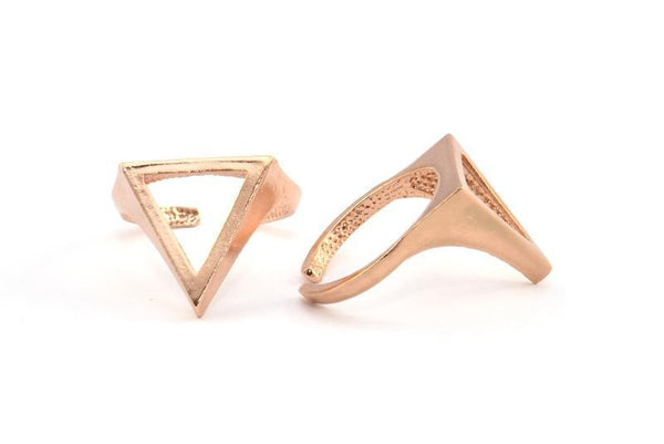 Rose Gold Plated Cutout Triangle Ring