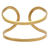 Raw Brass Double Bangle