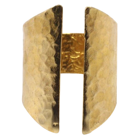 Raw Brass Hammered Gap Ring