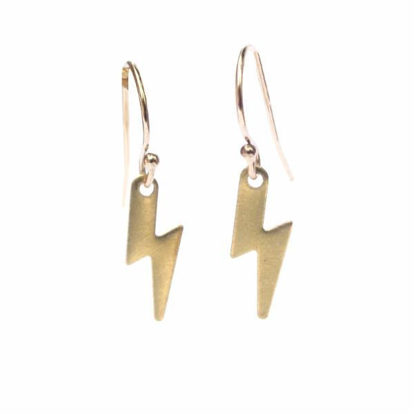 tiny lightning bolt earrings, thunder and lightning, tiny lightning, lightning bolt, lightning bolt symbol, lightning icon, lightning design, fancy gold earrings, new designs earrings, brass lightening, raw brass, gold plated, simple gold earrings, earrings for girl, pendant jewelry, gold accessories