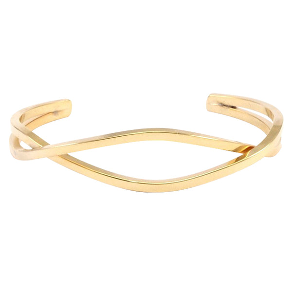 Raw Brass Intertwine Bangle