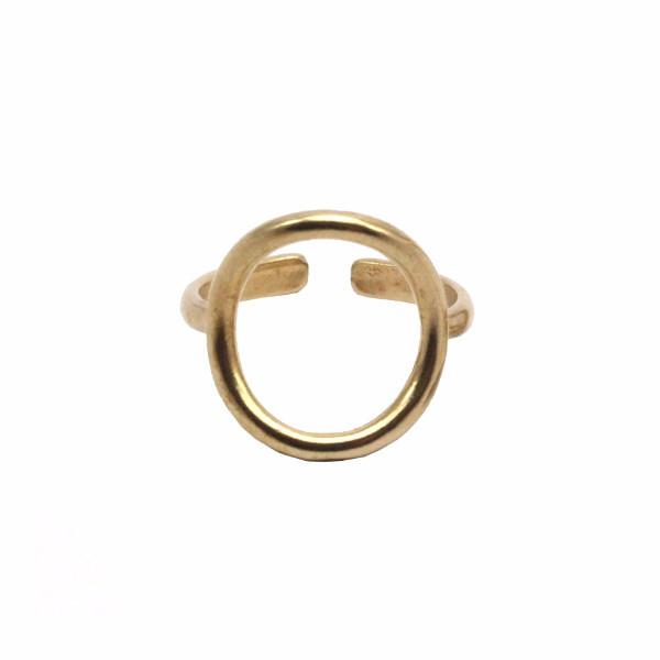 Raw Brass Karma Ring