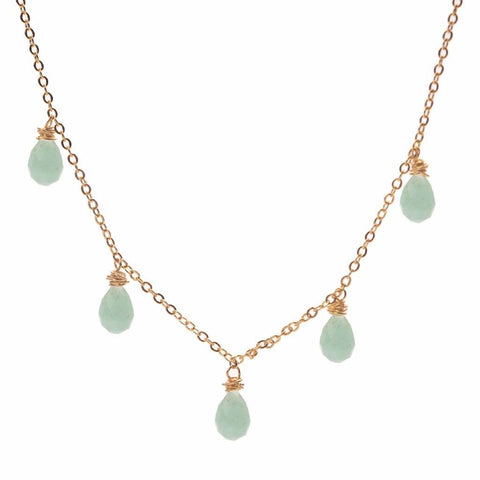 amazonite drop confetti, amazonite, drop amazonite, green amazonite, amazonite pendant, green stone, mint stone, mint blue, marble, gold filled, bead design, diy necklace, delicate, craft gift ideas, necklace designs, diy jewelry