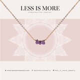 Triple Amethyst Necklace WHOLESALE