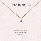 Amethyst V Necklace WHOLESALE