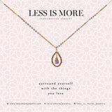 Amethyst Teardrop Necklace WHOLESALE