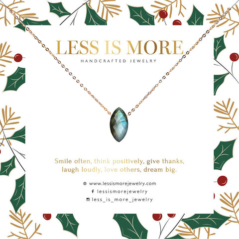 Marquise Labradorite Necklace WHOLESALE