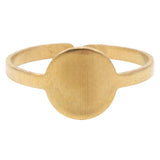 Raw Brass Mini Circle Ring