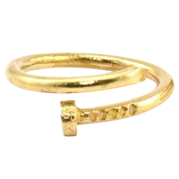 Raw Brass Nail Ring