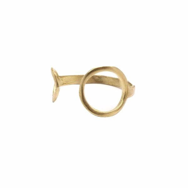 Raw brass polar ring