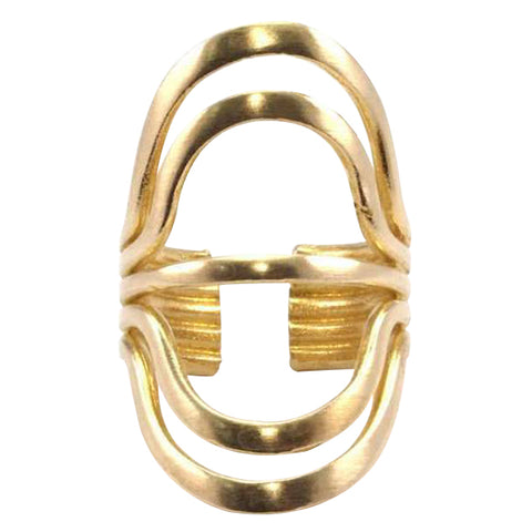 Raw Brass Radiation Ring