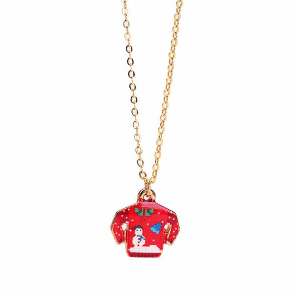 Red Sweater Necklace WHOLESALE