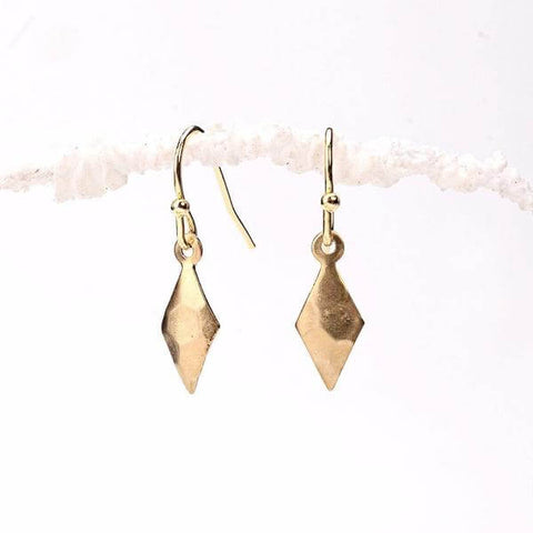 rhombus pendant earrings