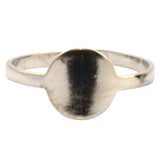 Silver Plated Mini Circle Ring